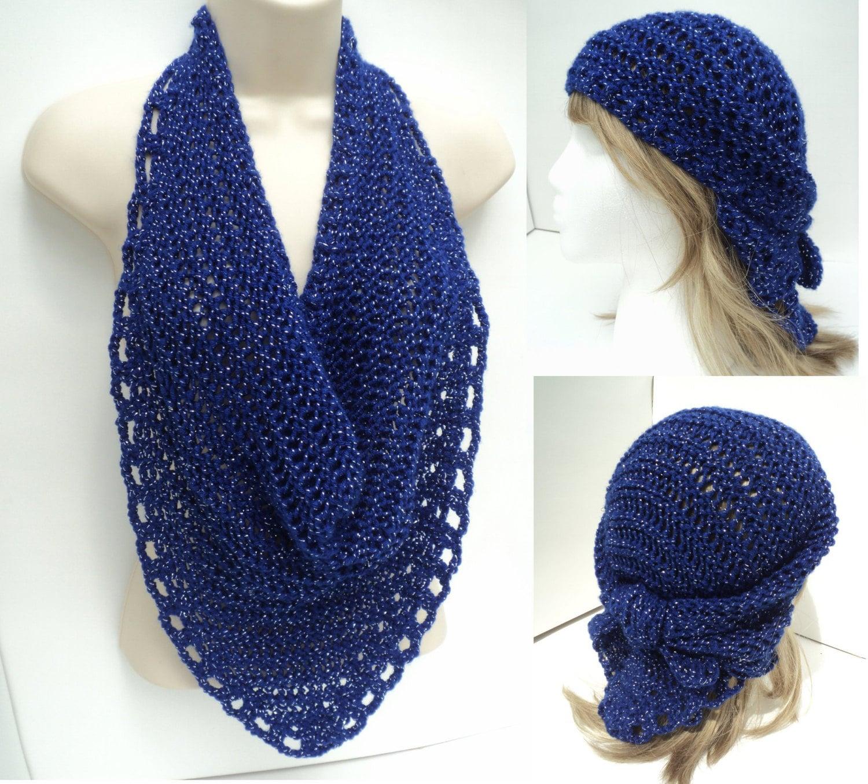 Knitting Veil Stitch : Knit/Crochet PATTERN Veil Knit Scarf Bandana