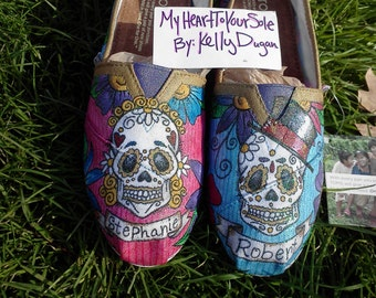 Price includes shoes. Sugar  Skull  male/ female TOMS