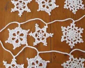 Festive Snowflakes PDF crochet pattern