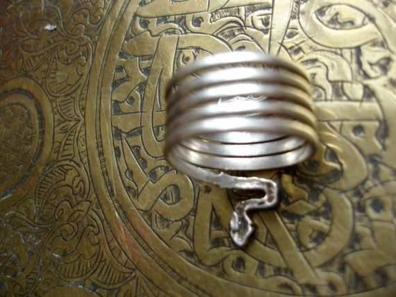 Silver snake serpent cobra Moroccan spiral ring