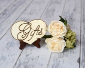 Rustic Wedding Gifts Sign WITH Easel