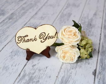 "Rustic Wedding  ""Thank You"" Sign WITH Easel"