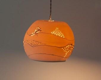 Painting Porcelain ball, Hanging lamp