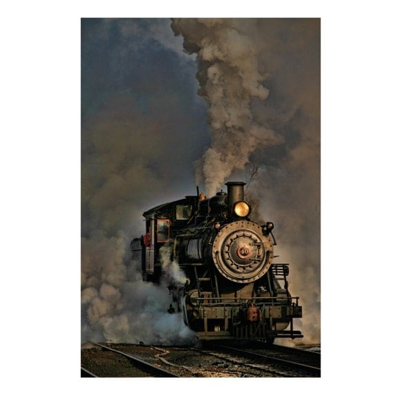 Items similar to Steam Engine Train graph Vintage