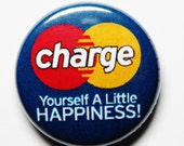 Funny Mastercard Button, Charge, PIN or MAGNET