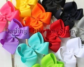 Large Boutique Bow Set -- pick 4 -- you choose colors LOTS of choices -- 3, 4, 5 or 6 Inch - Handmade in Tennessee