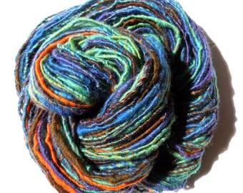 Springtime Corespun Merino Yarn Handspun 84g