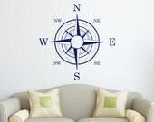 Nautical Compass Wall Decal