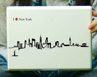 New York City Skyline Sticker Decal Laptop Decal iPad