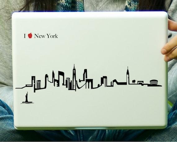 New York City Skyline Sticker Decal Laptop Decal iPad