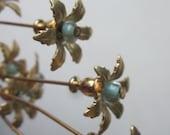 Six Brass Lil Darling Mini Flowers
