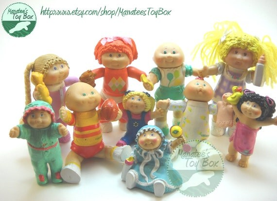 Toys From The 1980s : Cabbage patch kids figures s toys group of
