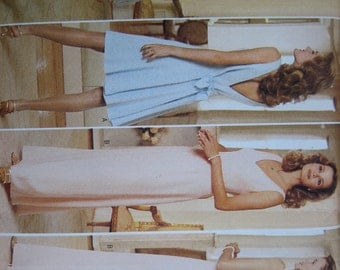 Butterick Pattern 4298 Nicole Miller Misses' Dress    1995    Uncut
