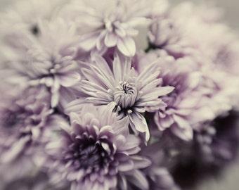 purple flower art, romantic flower print, floral nursery art, ethereal art, pastel decor, pastel purple art, botanical art print, grey decor