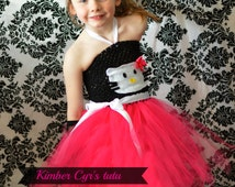 Hello Kitty Tutu Dress--customize with colors--all ages.