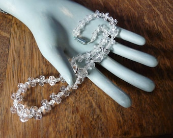 Faceted Crystal Bead Necklace