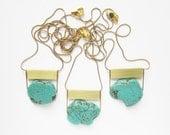 NEW - Turquoise Howlite Gemstone necklace