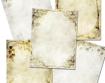 INSTANT DOWNLOAD  Art Nouveau Frames vintage images digital background  download printable collage sheet  US2