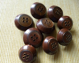 Brown Buttons set-(f83)