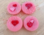 Passionate Kisses scented Soy Wax Blend Tart Melts  4-Pack