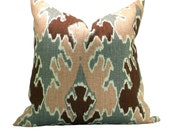 Kelly Wearstler Bengal Bazaar pillow cover in Graphite/Rose