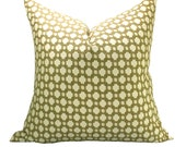 Schumacher Betwixt pillow cover in Biscuit/Ivory