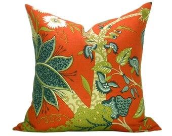 Schumacher Jaipur Tree pillow cover in Poppy