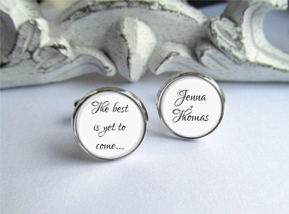 Wedding Gift Cufflinks For Groom : Groom Cufflinks, Personalized Groom Gift, Wedding Keepsake Cufflinks