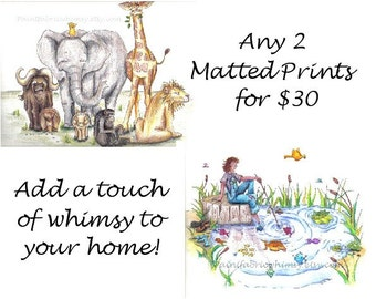 Special - Any Two Matted Prints - 30.00