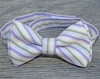 Easter Tie -- toddler boys easter clothing -- Easter Bowties -- Lavender tie -- easter bow tie -- bow tie for baby