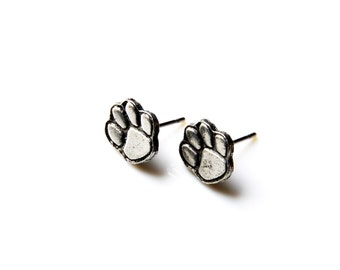 Paw Stud Earrings - Accessories - Women's Jewelry - Gift Idea - Handmade - Gift Box Included