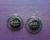 Bud Light Lime Beer Bottle Cap Earrings