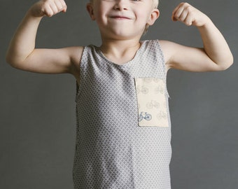 Blank Tank Top Sewing Pattern Boys Girls Toddler 18m 2T 3T 4T 5 6 7 8