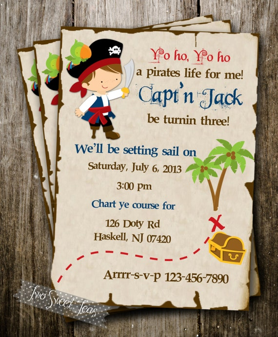 Pirate Birthday Party Invitation Wording was nice invitation layout
