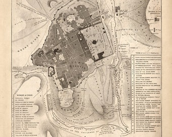 1835 Map of Jerusalem