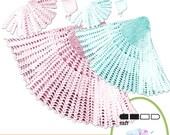 Instant Download vknc39 - shawl, matinée coat & Bonnet Crochet Pattern Reborn - PDF -  Layette