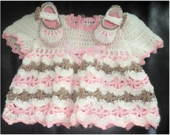 Instant Download 277  Baby Dress and Mary Jane Shoe 2 patterns in one  Pattern- PDF -  EMail