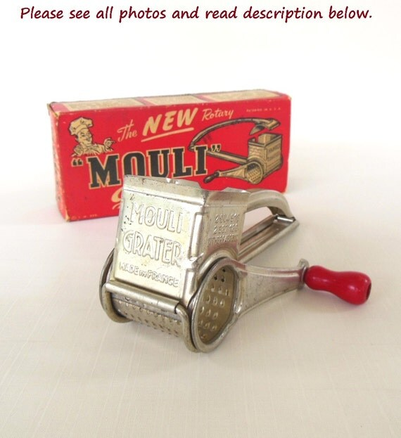 Vintage Crank Cheese Grater : Mouli grater hand crank rotary parmesan cheese shredder