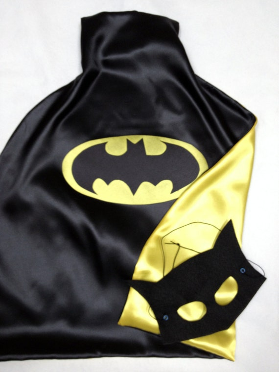 1 BAT CAPE & Special MASK Superhero's Great for Birthday and Party Gifts