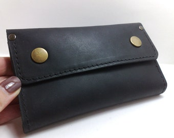 NEW Stylish leather bag for Nexus 4 holder with pockets for cards, ID cards, coin and cash, business card / free initials / with flap