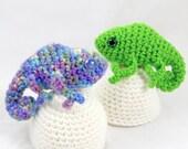 Crochet Pattern: Amigurumi Egg Babies, Baby Chameleon and Egg