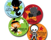 SPOOKY STARS Personalized stickers for Teachers