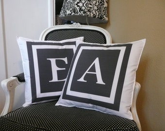 New Intial Pillow Cover