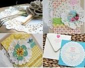 Set of 30 Round White Paper Doilies - 3.5 inches