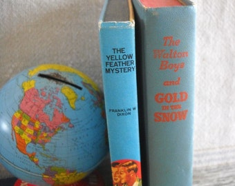 Vintage Mystery Books - The Hardy Boys and Walton Boys Hardcover Book Set of 2