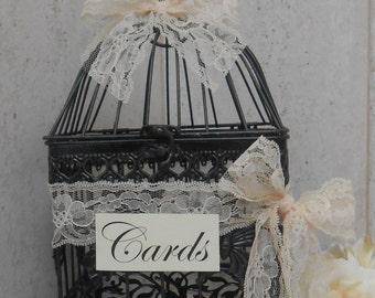 Birdcage Wedding Card Holder / Vintage Inspired Birdcage Cardholder