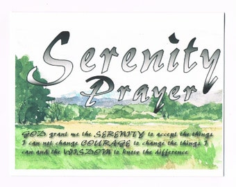 The Serenity Prayer on Rocky Mountain Foot Hills image