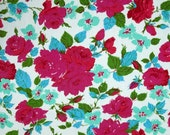 1/2 yard LAMINATED cotton fabric remnant (18 x 40) Eloise Happy Land Sis Boom (aka oil cloth, coated, vinyl, slicker) Paganelli BPA free