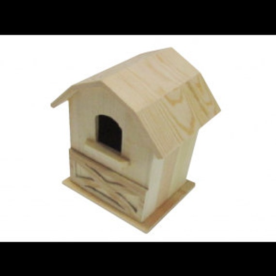 Unfinished Wood Bird House Large 8 Barn Door Birdhouse