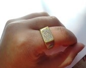 "RESERVED .... Vintage ""ROMA"" Ring // Italy Ring // Rome Ring // Size 9.5 Ring"